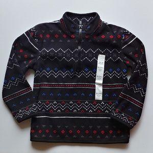 Black Nordic half zip pull over sweater